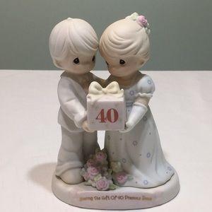 Precious Moments Porcelain 40th Anniversary Statue